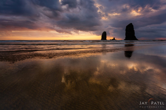 Silhouette created using a Graduated Neutral Density Filter, Canon Beach, Oregon by Jay Patel