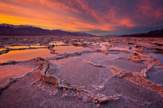 Reflected light in landscape photography Badwater, Death Valley, California