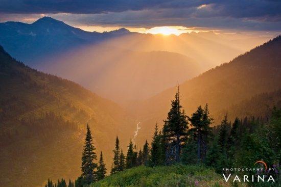 Iconic landscape photography location from Glacier National Park by Varina Patel