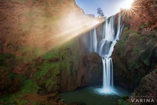 Landscape photo of Ozud Falls created with high speed bracketing and manual blending by Varina Patel