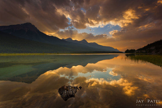Grand vista with a Wide Angle Lens, Beauty Creek, Jasper National Park, Alberta, Canada