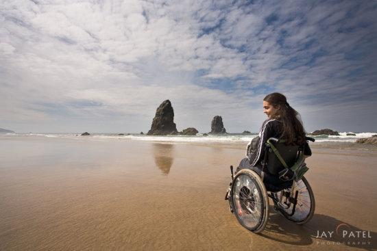Evoking emotions with Landscape Photography using human elements at Canon Beach, Oregon