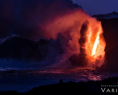 Lava Photo on Big Island, Hawaii by Varina Patel