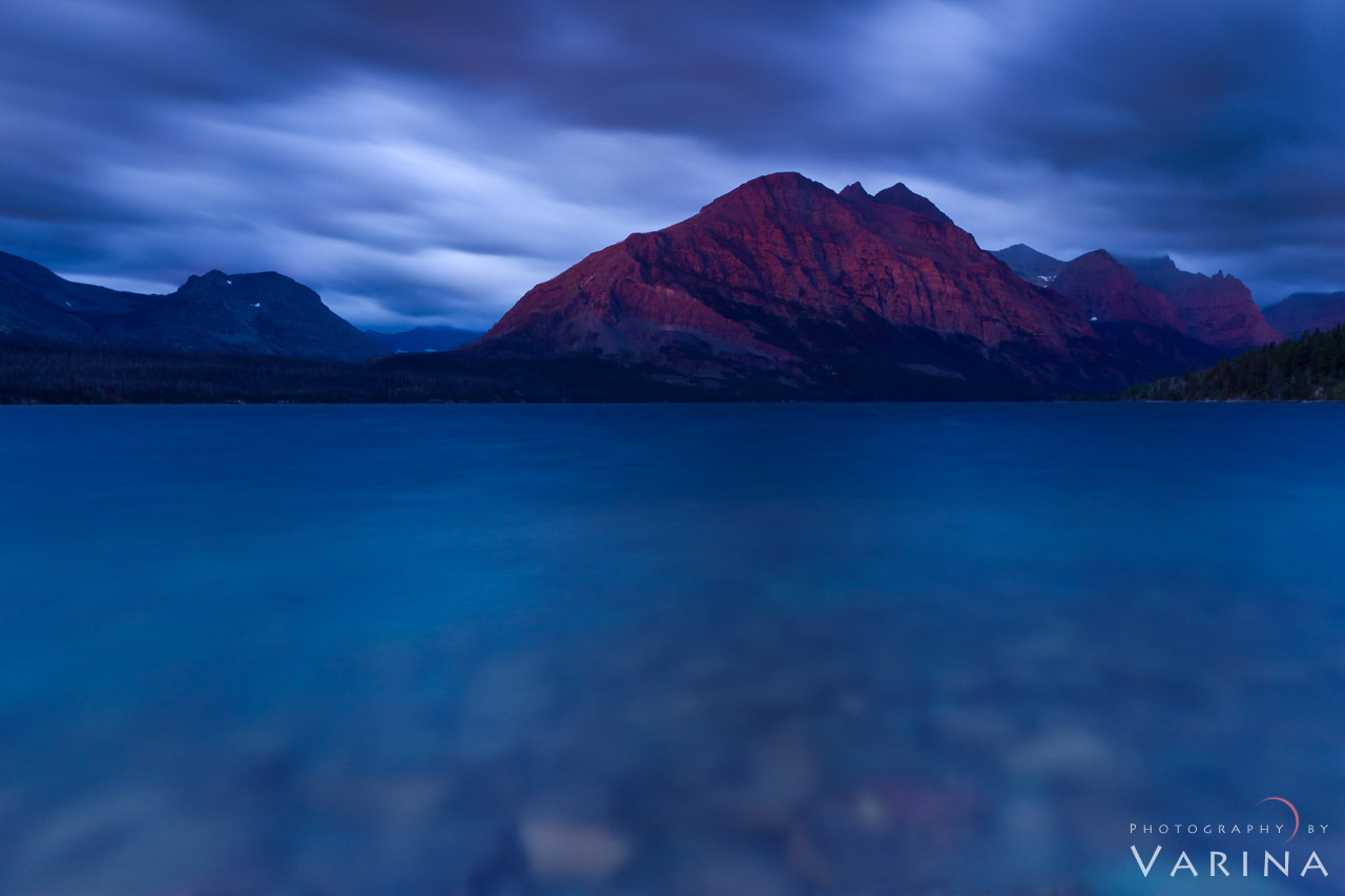 Using a long exposure to create simple nature photography composition from Glacier National Park in Montana by Varina Patel