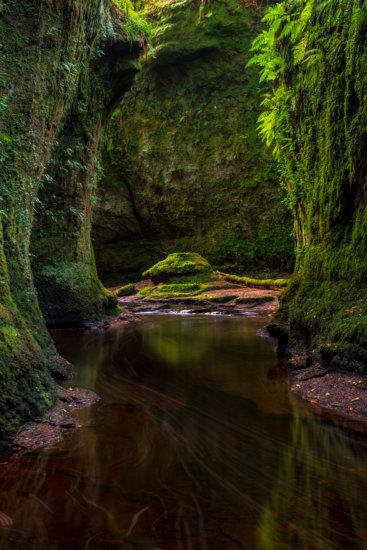 The Devil's Pulpit, Finnich Glen, Scotland by Ugo Cei