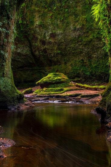 Landscape Photo from 55mm Focal Length from Finnich Glen, Scotland by Ugo Cei