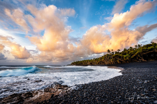 Landscape photography at Pohoiki Beach, Isaac Hale Park, Big Island by CJ Kale
