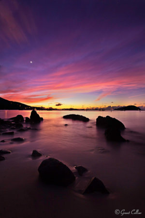Venus is visible above St Johns Island during civil twilight by Grant Collier