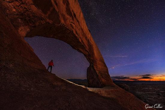 Wilson Arch, astronomical twilight