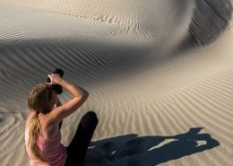 Pro Photographer Lace Andersen in action, Death Valley National Park