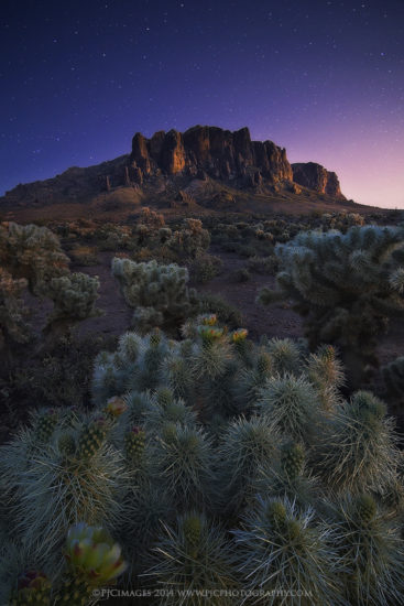 Landscape photography captured using live view mode at Superstitious Mountains, Arizona by Peter Coskun