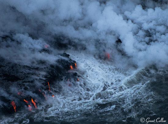 Lava at Kamokuna, Hawaii