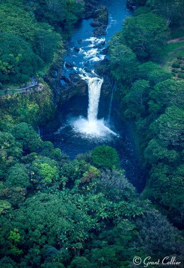 Aerial View, Rainbow Falls