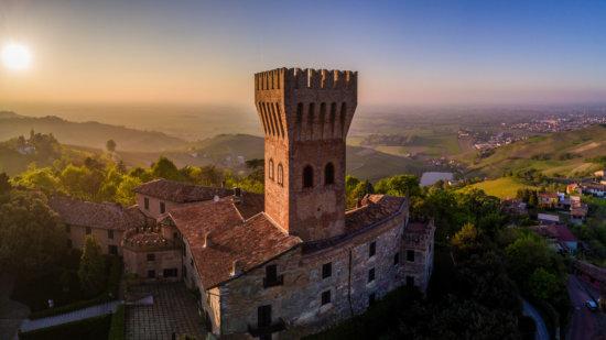 Castle of Cigognola, Italy shot with DJI Mavic Pro by pro travel photographer Ugo Cei
