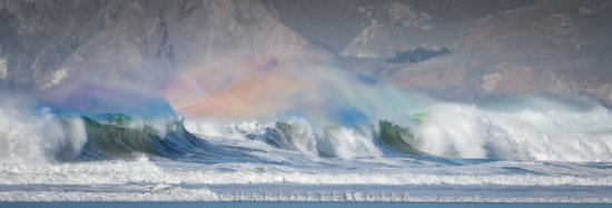 Fast shutter speed to used to free motion of waves by Charlotte Gibb.