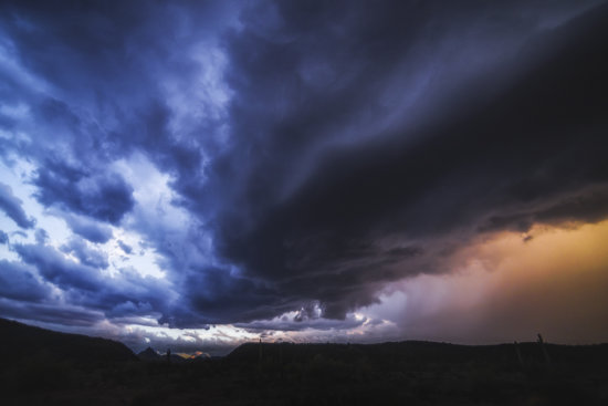 The edge of a supercell photographed in Western AZ in 2014