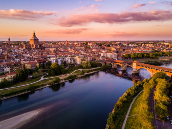Pavia, Italy from DJI drone by pro travel photographer Ugo Cei