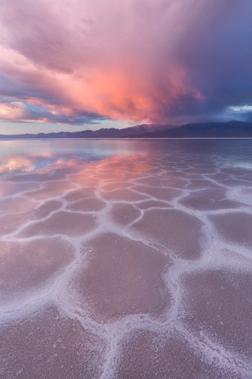 Sunrise over Badwater Basin in Death Valley National Park