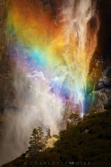 Waterfall photography with high shutter speed by Charlotte Gibb.