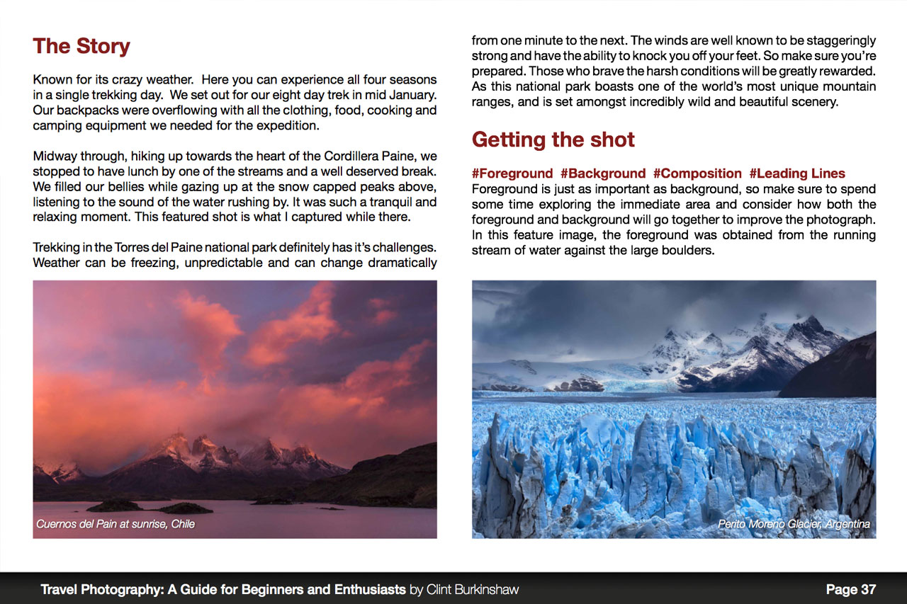 Travel Photography eBook Sample Page