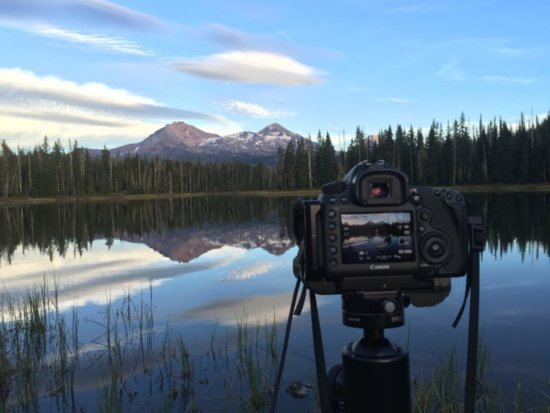 Digital SLR used for outdoor travel photography by Charlotte Gibb