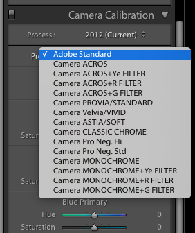 Lightroom Camera Calibration Profile