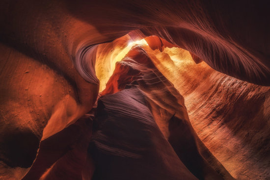 Landscape photography in a slot canyon by Peter Coskun