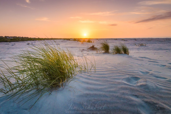 Beautiful sunrise over the sand dunes on Fripp Island, South Carolina created using a GND Photography Filter.