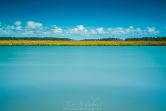 ND Filter used to capture this bright blue water and a marsh on Fripp Island, South Carolina.