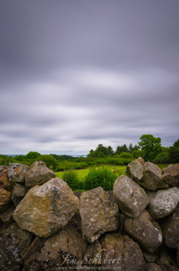ND Filters used to slow down the motion of the clouds in Oughterard, Ireland