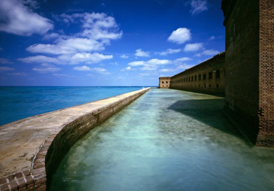 Moat Dry Tortugas National Park, Florida