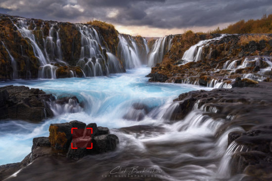 Example of single point focus setting for landscape photographers - Iceland, by photographer Clint Burkinshaw