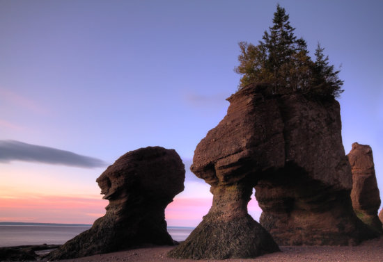 Landscape photography at Hopewell Rocks, Bay of Fundy, New Brunswick, Canada by Anne McKinnell