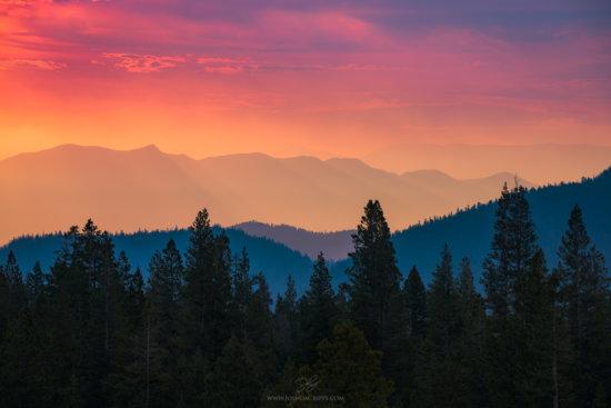 Sierra Nevada mountains captured Telephoto Lens