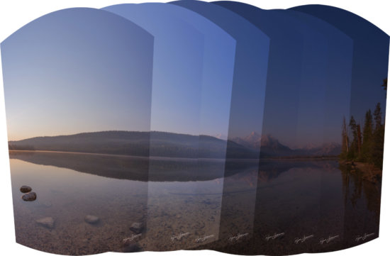 Some of the Pano Slices - American Eclipse Photo