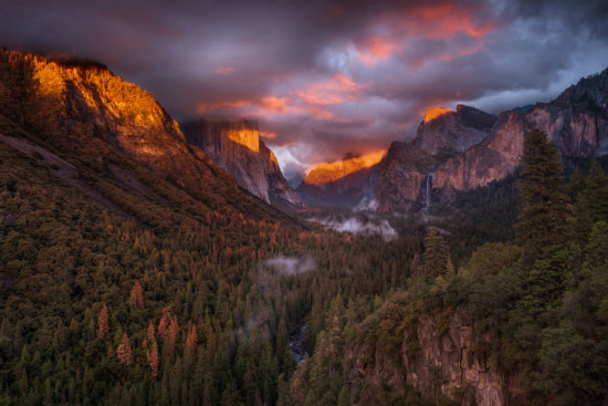 Exposure blending used to capture cloud movement by Dr. Sapna Reddy in Yosemite National Park