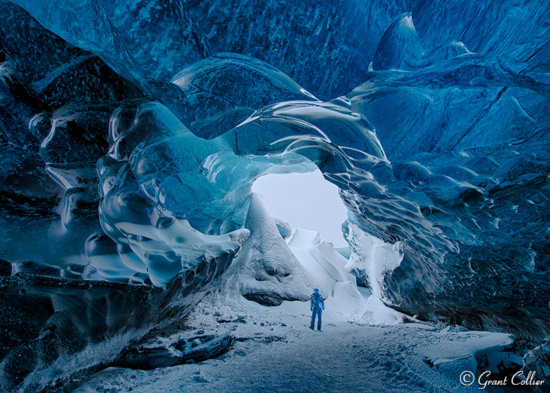 Ice Cave in Southern Iceland