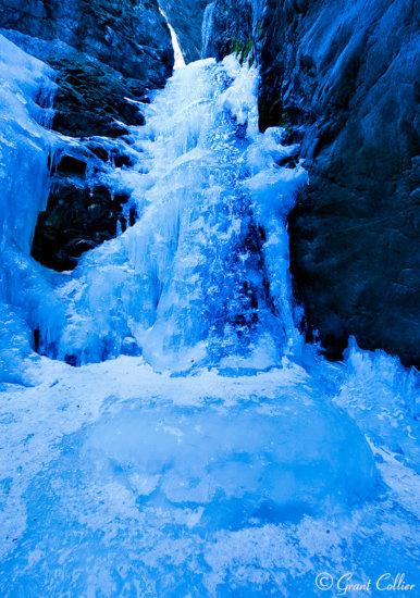 Frozen Waterfall in Colorado