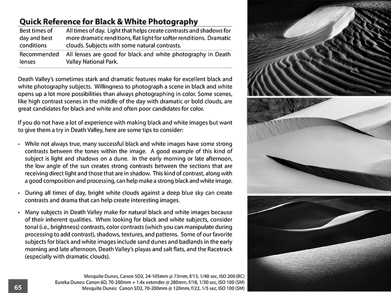 Nature Photography eBook - Sample Page