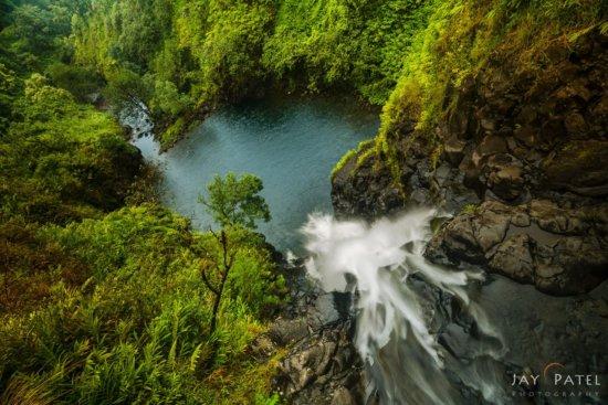 Slow shutter speed waterfall photo from Maui, Hawaii (HI)