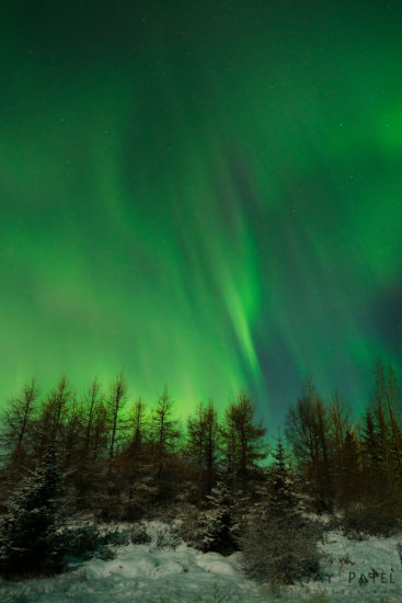 Wide Angle Lens Photo of Northern Lights, Iceland by Jay Patel