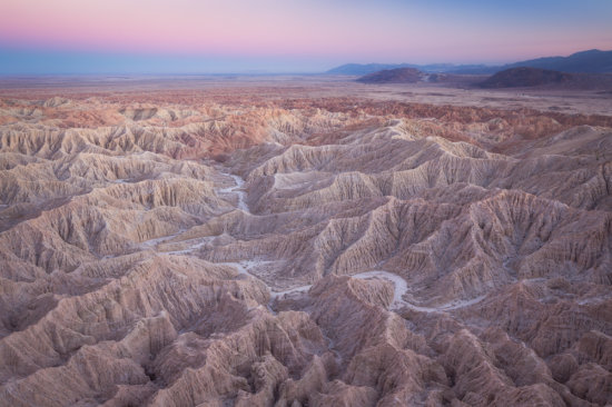 Badlands in Anza-Borrego Desert State Park.
