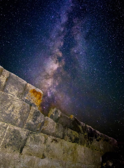 Night Photography example of Milkyway at Nisyros, Greece