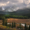 Storm in Canadian Rockies by landscape photographer Charlotte Gibb