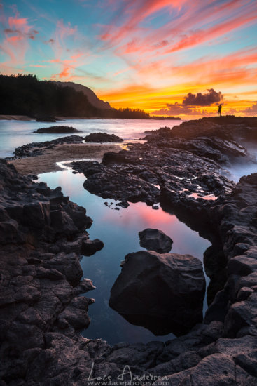 Beach photography at sunset from Kauai by Lace Andersen