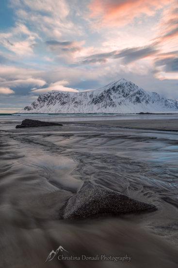 Sunset along the Norwegian Fjords