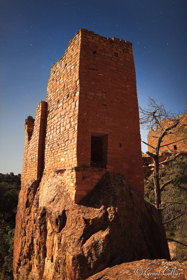 Anasazi Ruin at Night