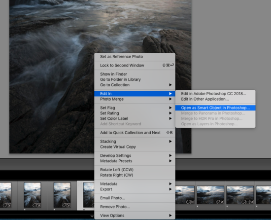 Opening a Smart Object in Photoshop from Lightroom by Chrissy Donadi