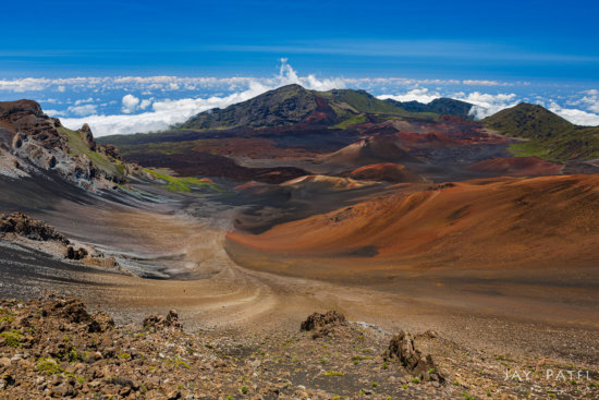 Landscape photo with circular pPolarizer, Haleakala National Park, Maui, Hawaii by Jay Patel