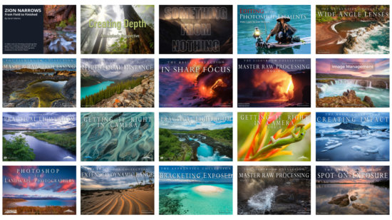 Cover for Landscape Photography Video Tutorials on Visual Wilderness